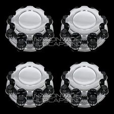 4 CHEVY GMC 8 Lug CHROME Wheel Center Hub Caps Nut Covers for Alloy & Steel Rims