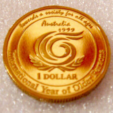 Australia: 1999 $1 proof YEAR OF THE OLDER PERSON END OF MILLENIUM- EXCELLENT