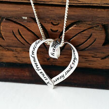 925 Sterling Silver Necklace with 'A  True Friend' pendant gift uk