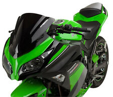 13-16 KAW Ninja 300 GP Dual Radius Windscreen - Solid Gloss Black 51303-1604