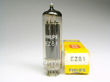 1 x NOS EZ81-PHILIPS MADE BY MULLARD BLACKBURN-OWN BOX