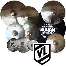 "Wuhan Cymbal Set 8"" 10"" 12"" 14"" 16"" 18"" 20"" 14"" HH & BAG splashes crashes rides"