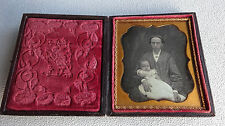 1/6 Plate 2-3/4 x 3-1/4 Daguerreotype Mother and Child