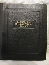Dr Salsbury School Of Poultry Diseases Binder 5 Day Dealer Training School 1939
