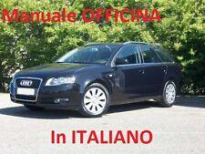 AUDI A4 Terza 3° Serie mk3  (2004/2008) Manuale Officina Riparazione in ITALIANO