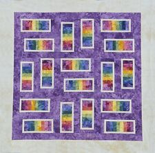 Starr Designs Quilt Kit Steppin' Stones Purple Baby Hand Dyed Cotton Fabrics