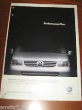 *AO78= VOLKSWAGEN MULTIVAN=PUBBLICITA'=ADVERTISING=WERBUNG=COUPURE=