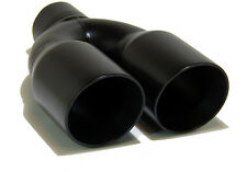 "GENSSI Muffler Tip Exhaust Tail Pipe Black (ID: 2.5"" OD: 3.5"" L: 10"" Dual Round"