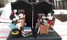 MICKEY & MINNIE MOUSE Retired Collectible Bookends At The Office Rare