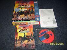 Civil War Generals 2: Grant -- Lee -- Sherman (PC, 1997) With Original Box