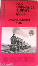 Old Ordnance Survey Map Lostock Junction near Wingates Lancs 1907  S86.15 New
