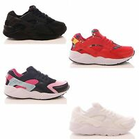 LADIES WOMENS TRAINERS LACE UP UNISEX CHUNKY GYM RUNNING SPORTS SHOES SIZE