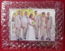 """WATERFORD crystal WESTOVER pattern PICTURE FRAME holds 5""""x7"""" in as-found box"""