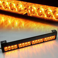 Amber 16 LED Strobe Car Truck Lights Fireman Flashing Police Emergency Warning
