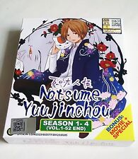 NATSUME'S BOOK OF FRIENDS The Complete Anime Season 1 - 4 PLUS Movie DVD Box Set