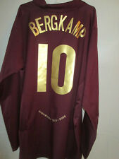 Arsenal 2005-2006 Away long sleeve Bergkamp Redcurrant Football Shirt / 34945