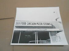 #128 VINTAGE MILWAUKEE WI ADVERTISING SIGN PHOTO - SEA FOOD CHICKEN PIZZA
