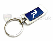 new Official Genuine Fiat Grande Punto & Evo blue & aluminium keyring key holder