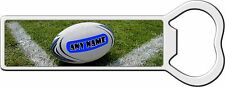 PERSONALISED RUGBY BALL METAL BOTTLE OPENER FRIDGE MAGNET BIRTHDAY XMAS GIFT