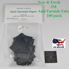 3M Anti-Tarnish Paper Tabs 1 X 1 inch ( 100 New Fresh Strips )