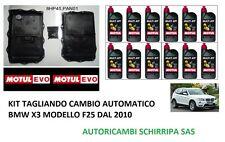 KIT TAGLIANDO COPPA + OLIO MOTUL CAMBIO AUTOMATICO BMW X3 MODELLO F25 DAL 2010