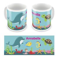 Personalised Children's Kids Printed Under The Sea Mug / Cup Gift Boxed Any Name