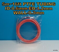 5m 16ft PTFE TEFLON TUBING PIPE ID-0.6mm  ED-1,2mm WALL-0.3mm  23AWG WIRE PINK