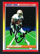 Mark Carrier #558 signed autograph auto 1990 Score Football Trading Card