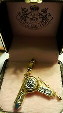 NIB Juicy Couture Hair Dryer Blow Dryer Charm RARE RETIRED~ Gold & Silver tones