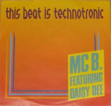 "MC B. feat. Daisy Dee, This beat is technotronic, VG+/EX 7"" Single 0702"