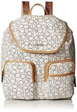 New Calvin Klein Signature Backpack White Hudson Almond Monogram CK Bag $260