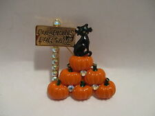 Pin Kirks Folly Pin Enamel Black Cat Pumpkins For Sale Rhinestones Brooch