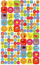 150  Cool Art Reward Stickers (Monster Dinosaur Sticker Sheet KS)