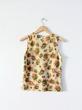 Whistles angora wool sleeveless pullover, small floral print twinset layer piece