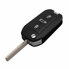 Car Key Shell Case Remote Fob For Peugeot 508 5008 3 Button Flip HU83 Blade New