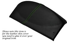 GREEN STITCH FITS LAND ROVER DEFENDER 07-13 SPEEDO GAUGE HOOD LEATHER COVER ONLY