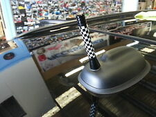 Black and white racing flag antenna cooper built inside MINI cooper,countryman
