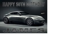 ASTON MARTIN DB9 JAMES BOND CAR 007 SPECTRA Birthday card Personalised A5