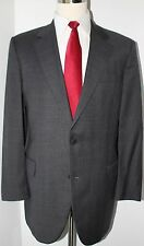Brooks Brothers Madison Gray Check Wool Two Button Mens Suit 43 L 37 30 Pants 1