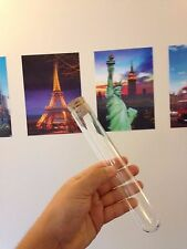 B FRIDAY 2 x Large glass test tubes 200 x 30mm borosilicate, rim, Cork stoppers