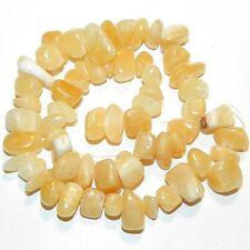 """GC149f Yellow Medium (12-15mm) Chip Nugget Calcite Gemstone Beads 15"""""""
