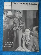 Summer Of The 17th Doll - Coronet Theatre Playbill - February 3rd, 1958 - Jago