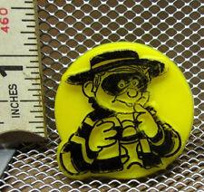 HAMBURGLAR thief character vtg yellow kids ring McDonald's mascot 1970s plastic