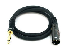 3ft Premier Series XLR Male to 1/4inch TRS Male 16AWG Cable (Gold Plated) 4760