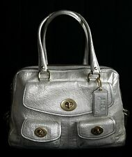 COACH Exclusive Archive Ltd Ed Peyton Metallic Leather Legacy Tote Bag  Satchel
