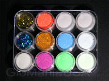 Nail Glitter Deco Set with Invisible GID Powder, Stars & Moons