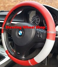 BMW Z1 Z3 Z4 Z8 STEERING WHEEL COVER RED SILVER PANELS & CHROME DETAIL 05066