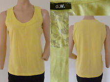 G.W. Gerry Weber Shirt Tank Top Girl Sommer Rundhals Ärmellos Stretch Gelb 40 1A