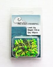 50 NEW Painted shad Trout Jig Heads 1/32 oz Fishing Hooks Lures Bait Tackles #4