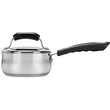 Range Kleen 2-Piece 1-Quart Basics Covered Sauce Pan, Silver